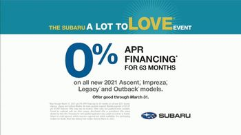 Subaru A Lot to Love Event TV Spot, 'Call of the Road' [T2] - Thumbnail 7
