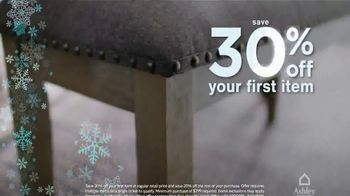 Ashley HomeStore Snow Sale TV Spot, '30% Off First Item' - Thumbnail 3