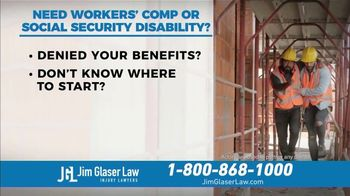 Jim Glaser Law TV Spot, 'Workers' Comp or Social Security'