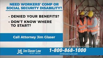Jim Glaser Law TV Spot, 'Workers' Comp or Social Security' - Thumbnail 4
