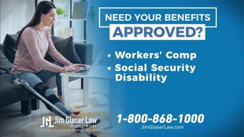 Jim Glaser Law TV Spot, 'Workers' Comp or Social Security' - Thumbnail 6