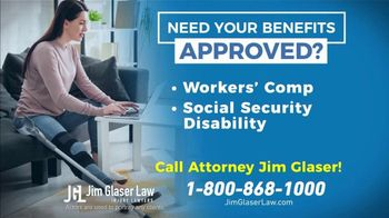 Jim Glaser Law TV Spot, 'Workers' Comp or Social Security' - Thumbnail 7