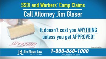 Jim Glaser Law TV Spot, 'Workers' Comp or Social Security' - Thumbnail 8