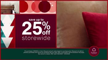 Ashley HomeStore Black Friday Weekend Sale TV Spot, 'Continued: 25% Off or 0% Interest' - Thumbnail 3