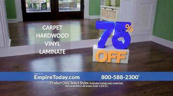 Empire Today 75% Off Sale TV Spot, 'Now's the Time to Get New Floors' - Thumbnail 6