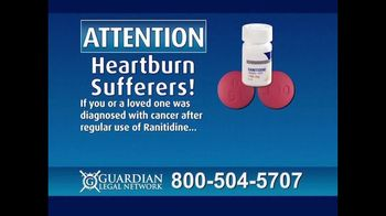 Guardian Legal Network TV Spot, 'Heartburn Sufferers: Ranitidine' - Thumbnail 1