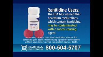Guardian Legal Network TV Spot, 'Heartburn Sufferers: Ranitidine' - Thumbnail 6