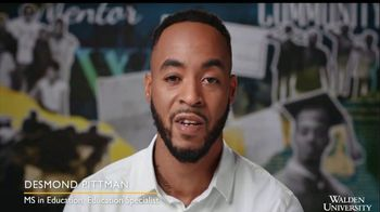 Walden University TV Spot, 'Shine On: Desmond Pittman'