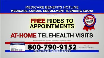 Medicare Benefits Hotline TV Spot, 'Medicare Enrollment Period: Final Days'