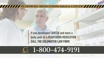 Goldwater Law Firm TV Spot, 'Heartburn Medications Linked to Cancer' - Thumbnail 3
