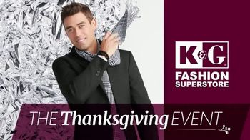 K&G Fashion Superstore Thanksgiving Event TV Spot, 'Sweaters, Active Wear and Shoes'