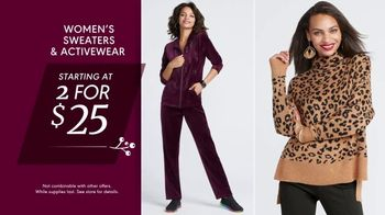 K&G Fashion Superstore Thanksgiving Event TV Spot, 'Sweaters, Active Wear and Shoes' - Thumbnail 5
