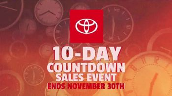 Toyota 10-Day Countdown Sales Event TV Spot, 'Hurry: Camry' [T2] - Thumbnail 7