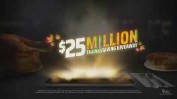 DraftKings Daily Fantasy TV Spot, '$25 Million Thanksgiving Giveaway'
