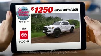 Toyota Thanksgiving Sales Event TV Spot, 'Everywhere You Are: Trucks' [T2]