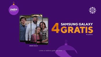 Metro by T-Mobile TV Spot, 'Conquista tus fiestas con cuatro teléfonos Samsung' [Spanish] - Thumbnail 4