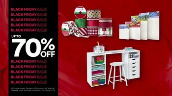 Michaels Black Friday Sale TV Spot, 'Up to 70% Off: Trees, Floral and Decor'
