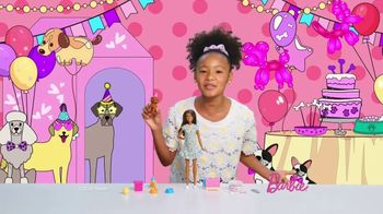 Barbie Puppy Party Playset TV Spot, 'Cake, Confetti and Presents' - Thumbnail 2