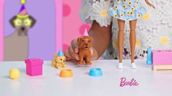Barbie Puppy Party Playset TV Spot, 'Cake, Confetti and Presents' - Thumbnail 3