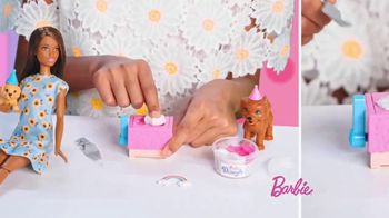 Barbie Puppy Party Playset TV Spot, 'Cake, Confetti and Presents' - Thumbnail 4