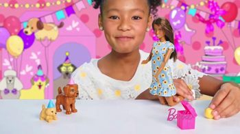 Barbie Puppy Party Playset TV Spot, 'Cake, Confetti and Presents' - Thumbnail 7