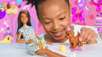 Barbie Puppy Party Playset TV Spot, 'Cake, Confetti and Presents' - Thumbnail 8