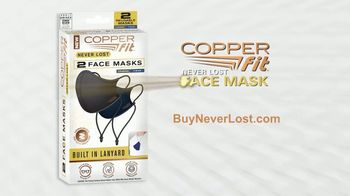 Copper Fit Never Lost Face Mask TV Spot, 'Lose Something?: Built-In Lanyard' - Thumbnail 9