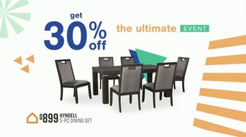 Ashley HomeStore Ultimate Event TV Spot, '30% Off: Hyndell Dining' - Thumbnail 4