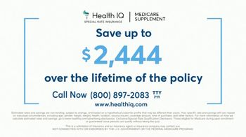 Health IQ TV Spot, 'The Only Company to Offer Special Rate Medicare Supplement Insurance' - Thumbnail 7