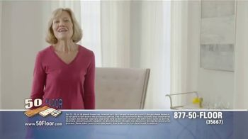 50 Floor Free Installation Sale TV Spot, 'Don't Lift a Finger' - Thumbnail 1