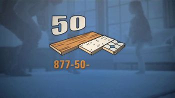50 Floor Free Installation Sale TV Spot, 'Don't Lift a Finger' - Thumbnail 4