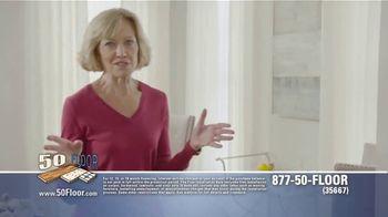 50 Floor Free Installation Sale TV Spot, 'Don't Lift a Finger' - Thumbnail 2