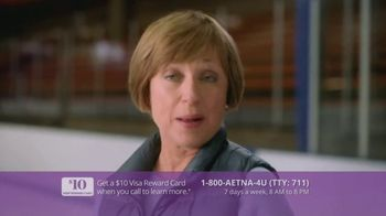 Aetna Medicare Solutions TV Spot, 'Aging Actively: $10 Gift Card' Featuring Dorothy Hamill - Thumbnail 9