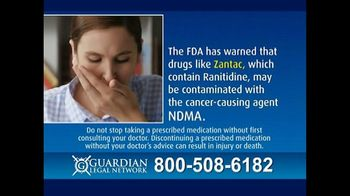 Guardian Legal Network TV Spot, \'Zantac and Ranitidine Warning\'