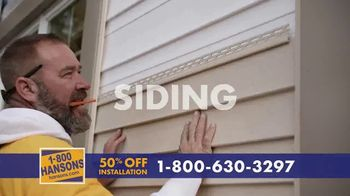 1-800-HANSONS TV Spot, 'Trust Hansons: 50% Off Installation & No Interest'