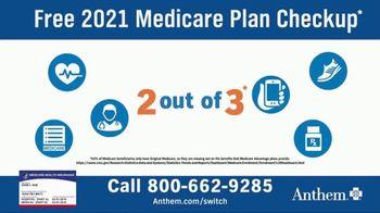 Anthem Blue Cross and Blue Shield TV Spot, '2021 Medicare Plan Checkup' - Thumbnail 1