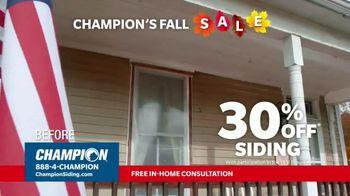 Champion Siding Fall Sale TV Spot, 'Transform Your Home: 30 Percent Off Siding'