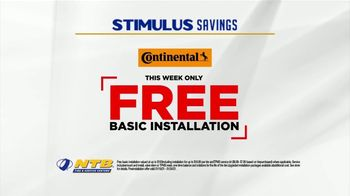 National Tire & Battery Stimulus Savings Event TV Spot, 'Mail-in Rebate: Continental Tires' - Thumbnail 7
