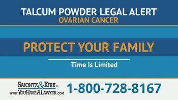 Saiontz & Kirk, P.A. TV Spot, 'Ovarian Cancer: Talcum Powder'