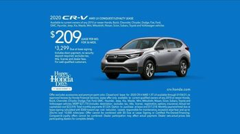 Happy Honda Days Sales Event TV Spot, 'Serious: CR-V and HR-V' [T2] - 98 commercial airings