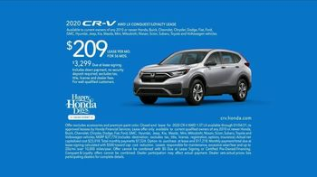 Happy Honda Days Sales Event TV Spot, 'Serious: CR-V and HR-V' [T2] - Thumbnail 10