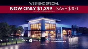 Sleep Number Fall Sale TV Spot, 'Weekend Special: Queen c4 Smart Bed: $1,399' - Thumbnail 7