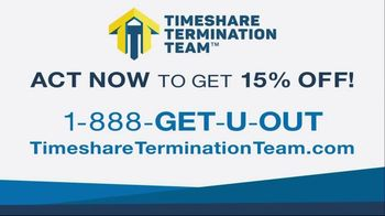 Timeshare Termination Team TV Spot, 'Get 15% Off' - Thumbnail 9