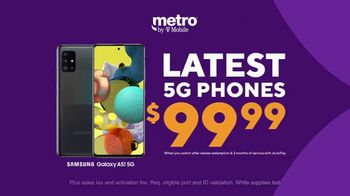 Metro by T-Mobile TV Spot, 'Rule Your Day: Latest 5G Phones for $99.99' - Thumbnail 4