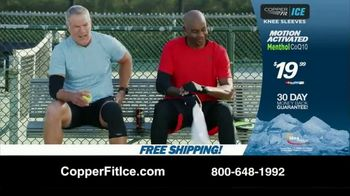 Copper Fit Ice Knee Sleeves TV Spot, 'Motion Activated Menthol' Featuring Brett Favre, Jerry Rice - Thumbnail 10
