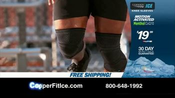 Copper Fit Ice Knee Sleeves TV Spot, 'Motion Activated Menthol' Featuring Brett Favre, Jerry Rice - Thumbnail 9
