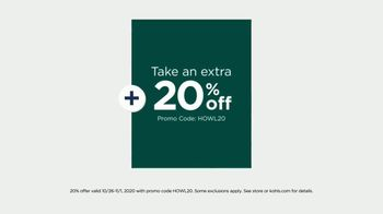 Kohl's TV Spot, 'Holidays: Extra 20% off: Fleece, Jumping Beans and Fall Home Decor' - Thumbnail 3