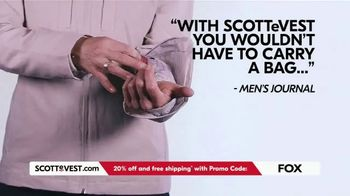 SCOTTeVEST TV Spot, 'Pockets: 20% Off and Free Shipping' - Thumbnail 8