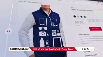 SCOTTeVEST TV Spot, 'Pockets: 20% Off and Free Shipping' - Thumbnail 9