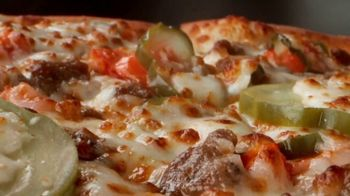 Papa John\'s Double Cheeseburger Pizza TV Spot, \'It\'s Back: $12\'